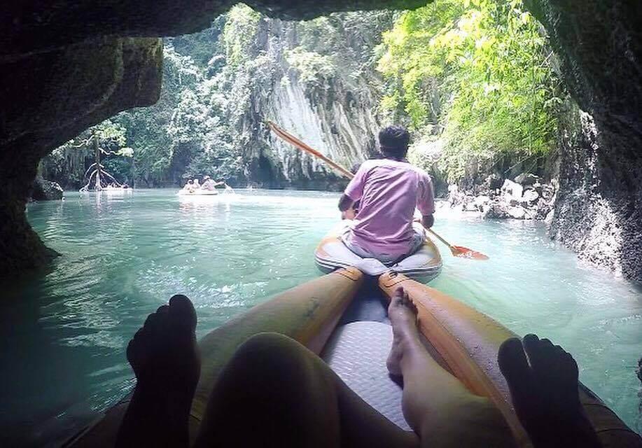 Kayaking in Phang Nga Bay, Thailand, shot on GoPro Hero 4 Silver