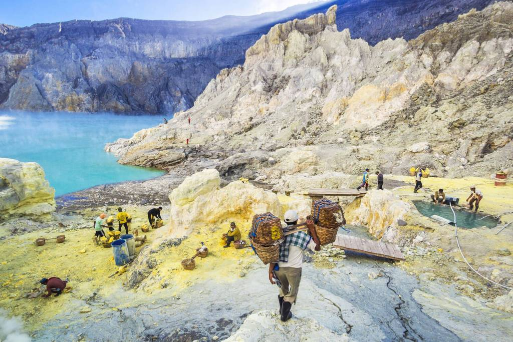 The sulphur miners, photo by R.M. Nunes / shutterstock.com