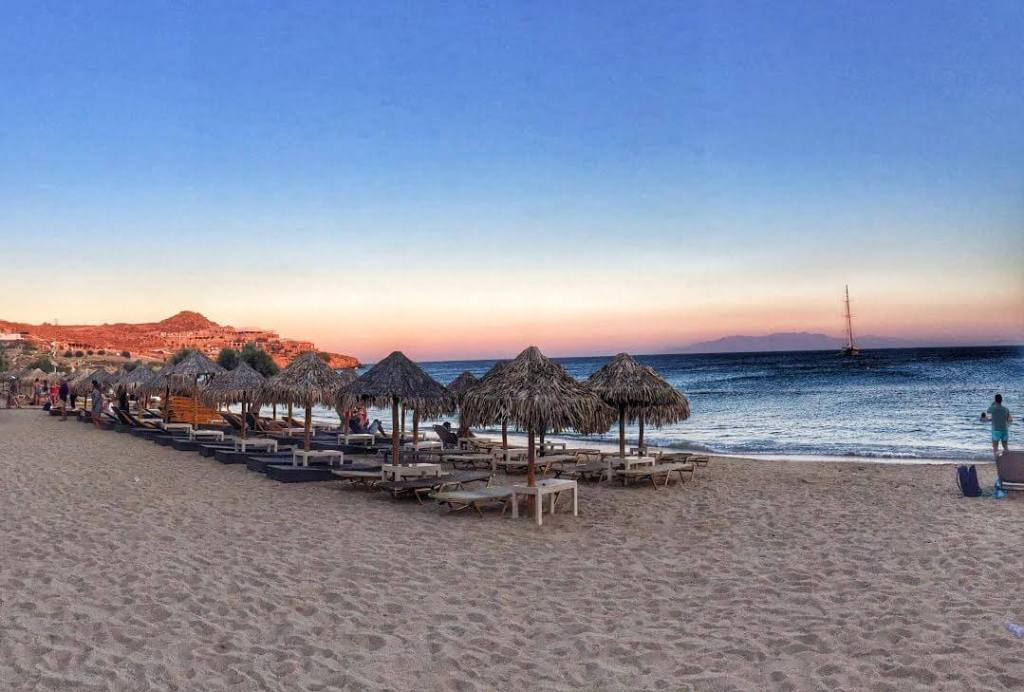 Paradise Beach in Mykonos, by Seven Day Weekender
