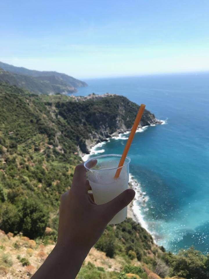 Time for a lemonade with views over Corniglia