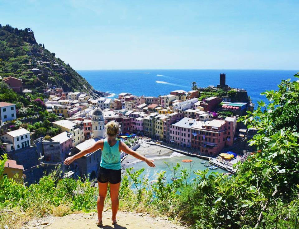 Overlooking Vernazza from the Sentiero Azzurro