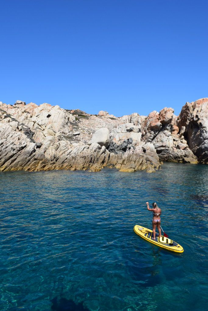 Stand up paddling in Sardinia, Italy