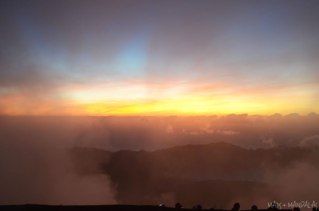 Sunrise from the top of Mount Batur, photo by Maps and Mandalas