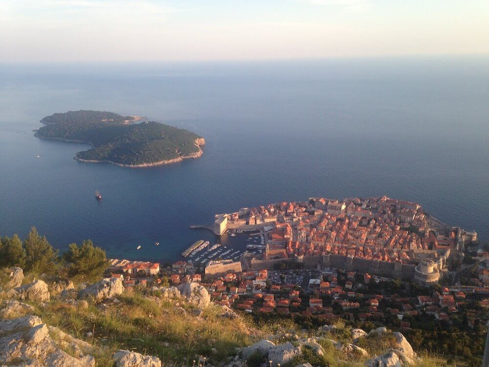 View over Dubrovnik from the cable car