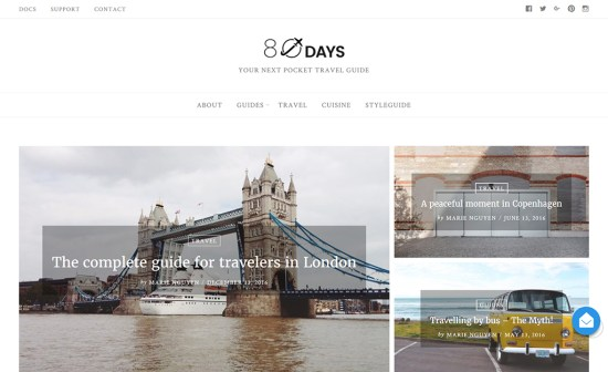 eightydays wordpress blog theme