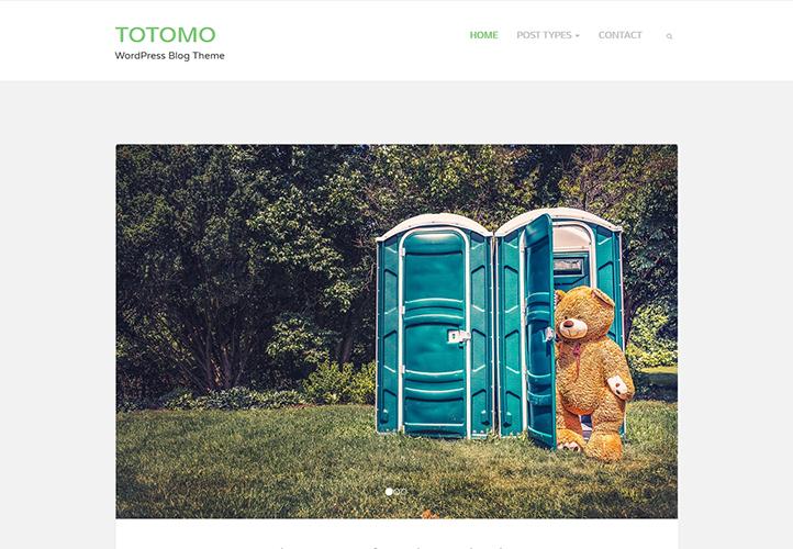 Totomo WordPress Blog Theme