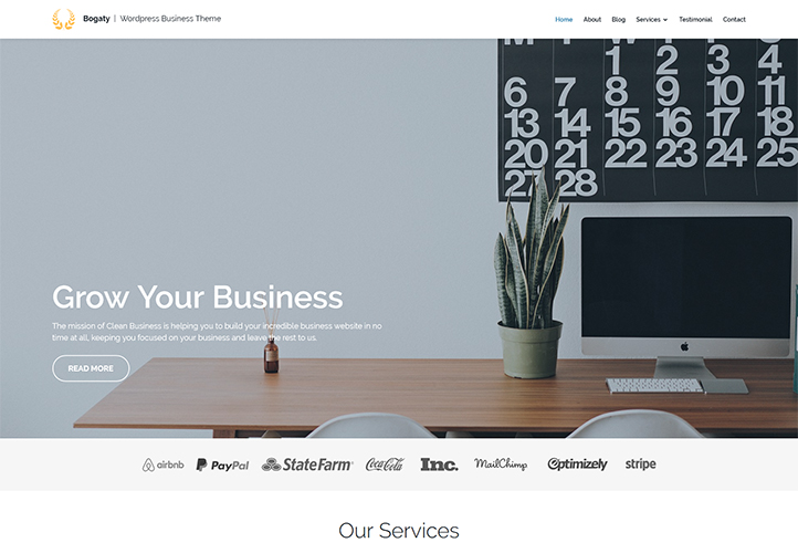 bogaty wordpress business theme gretathemes