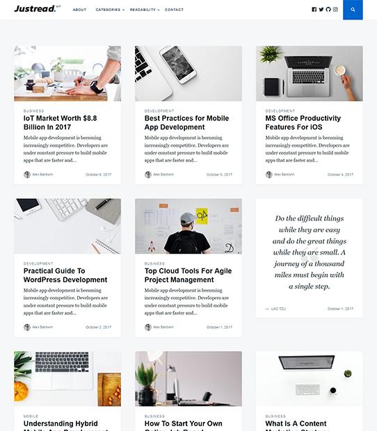 justread wordpress blog theme