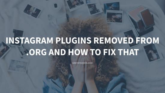 WordPress Instagram Plugins Removed