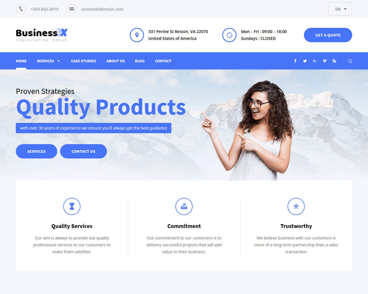 Business X WordPress Theme