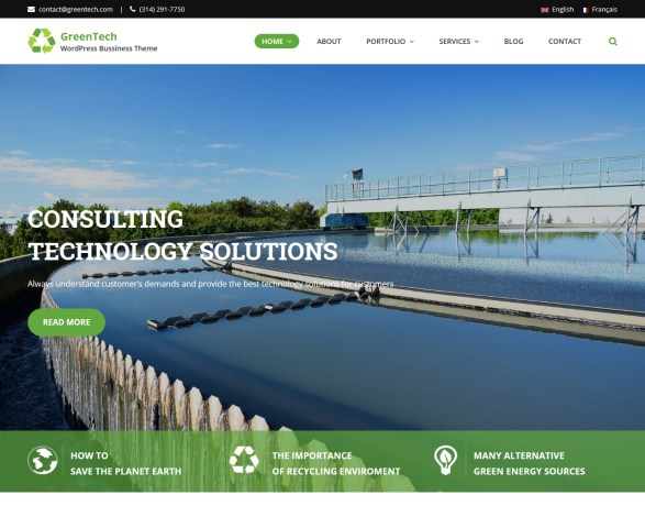 GreenTech Business WordPress Theme