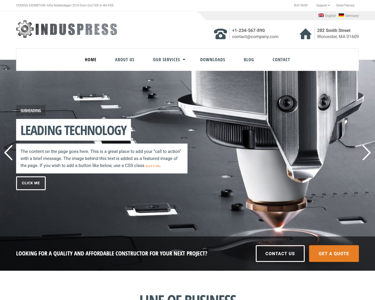 IndusPress Business WordPress Theme