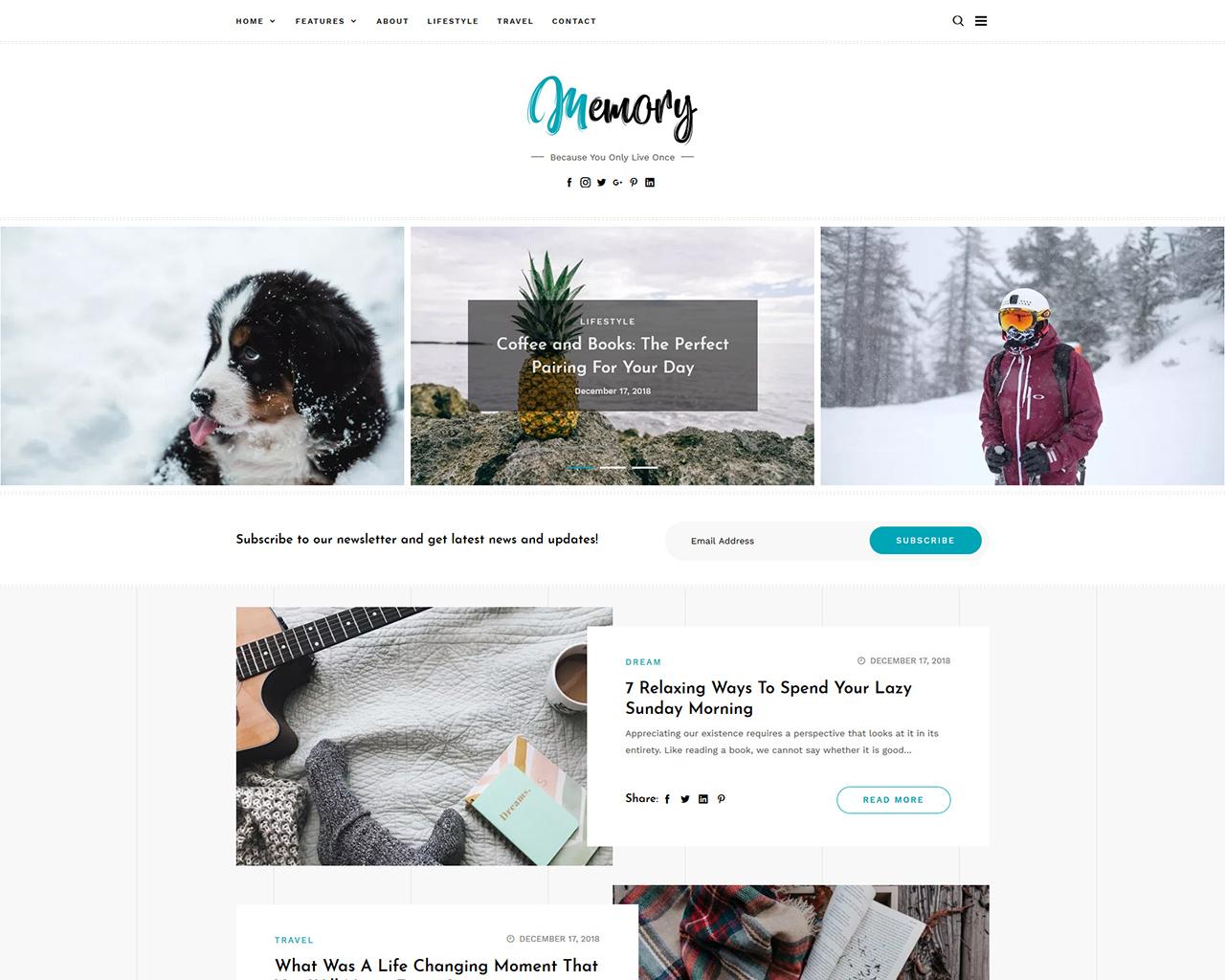 Memory WordPress Blog Theme
