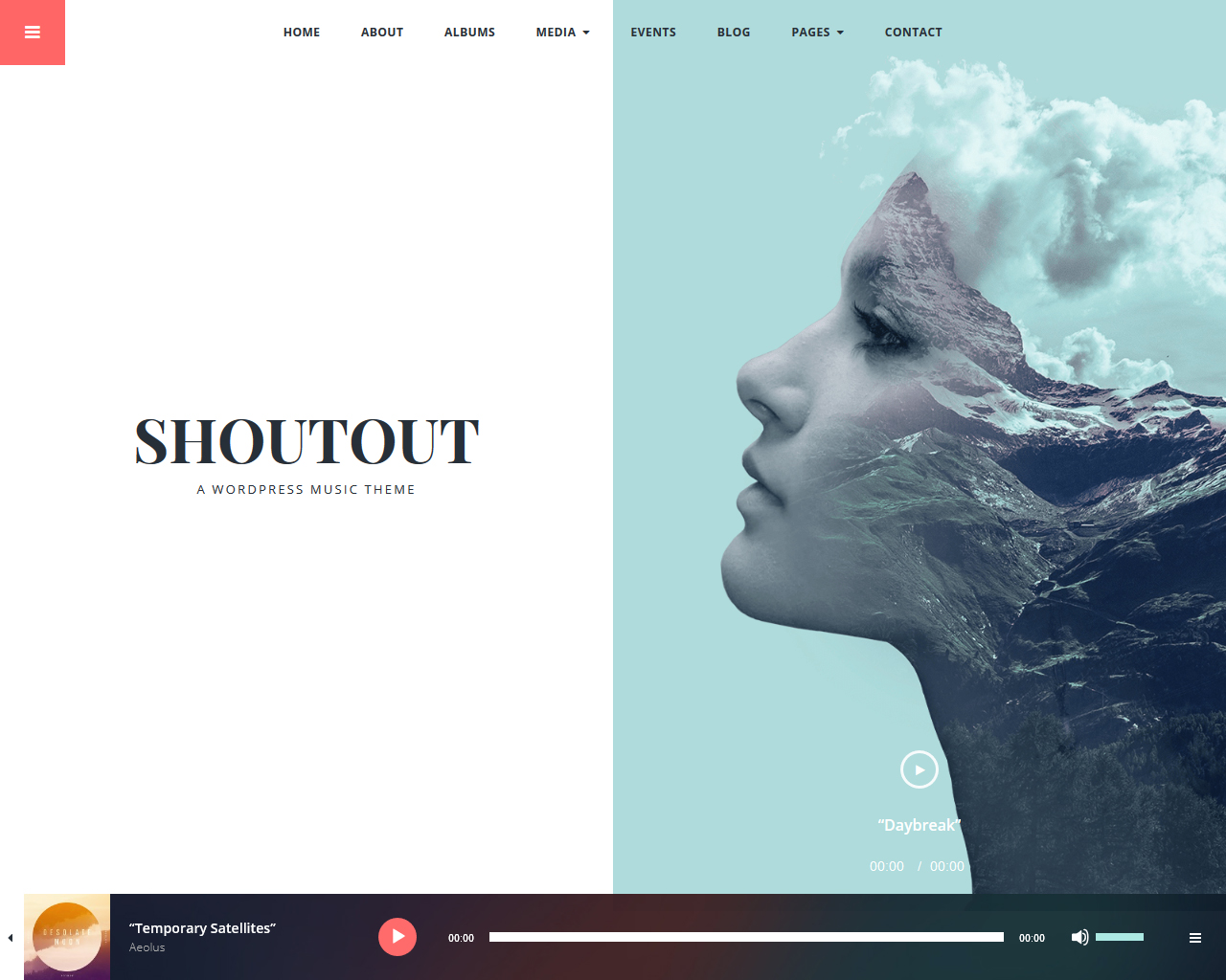 Shoutout Music WordPress Theme