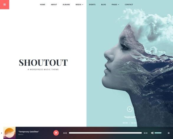 Shoutout Music WordPress Theme
