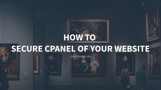 how to secure cpanel of your website