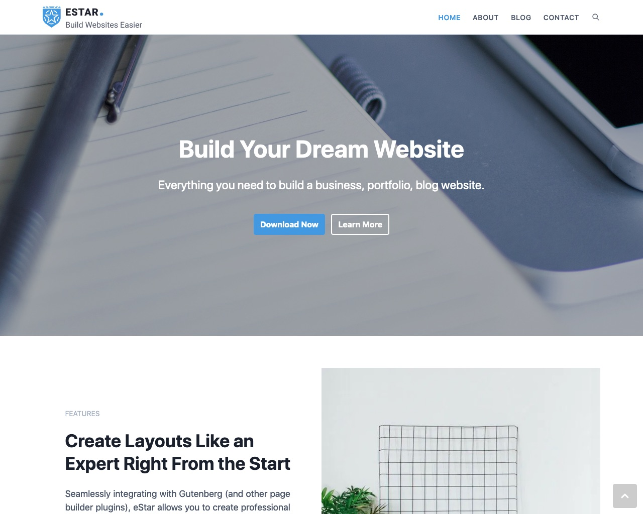 eStar WordPress Theme