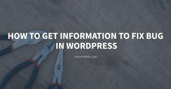 Get Information to Fix Bug in WordPress