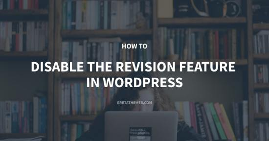 How to Disable the Revision Feature in WordPress