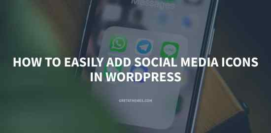 How to add social media icons in WordPress website
