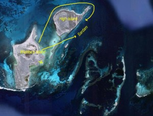 Picture of map of Wallabi group islands
