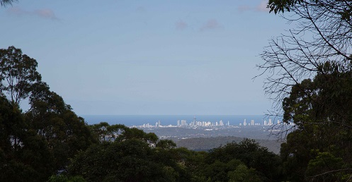 The Gold Coast from the mountain