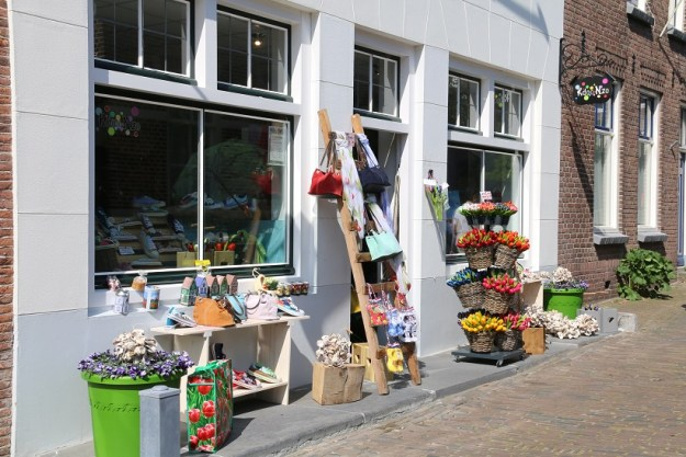 Spring goods on display outside a shop