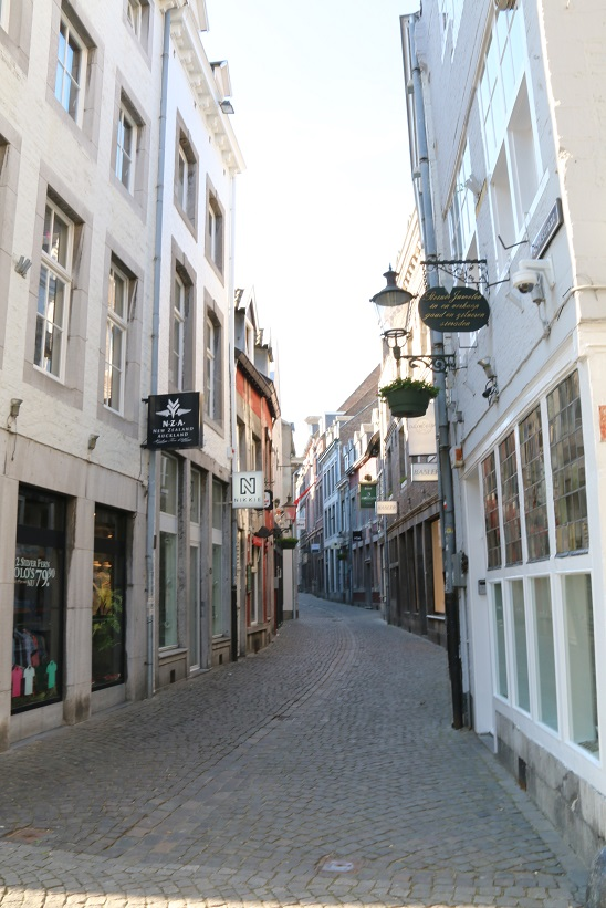 Narrow cobbled streets