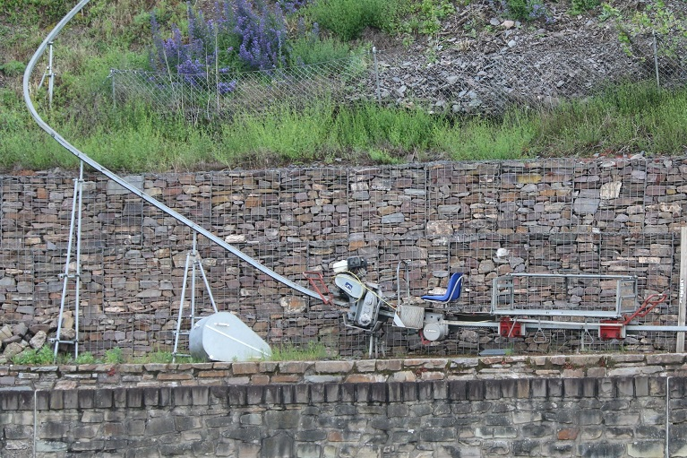 A motorised transport. Note also the beautiful dry stone wall