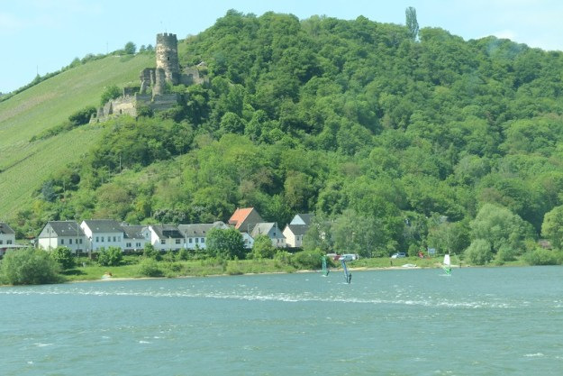 People wind surfing on the Rhine