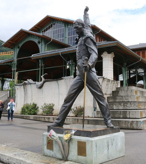 Freddie Mercury - his statue isn't with the jazz singers, it's down on the water's edge