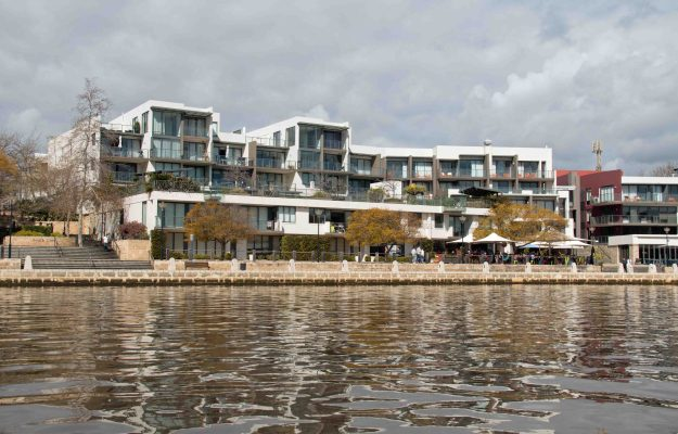 This is an area of East Perth that used to be seriously down market. Developers dug a hole next to the river, then let the water in. These apartments are only a short distance from the city centre. There are, of course, lots of restaurants.
