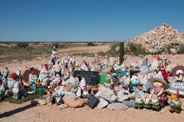Lorna's gnome memorial