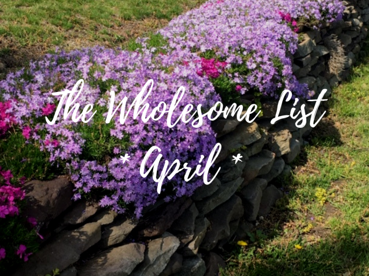 5 Wholesome Things I Learned in April