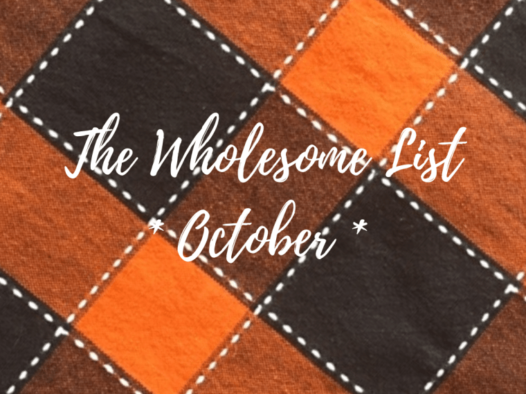 "5 Warm & Fuzzy Things from October – The Monthly ""Wholesome List"""