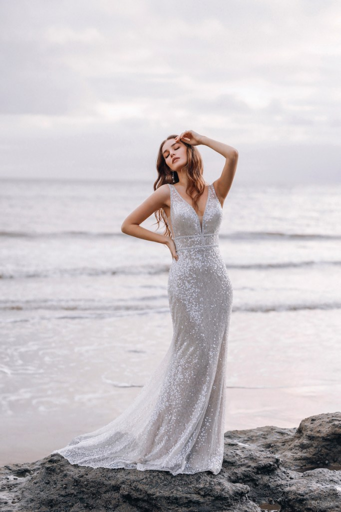 Ariel inspired wedding gown
