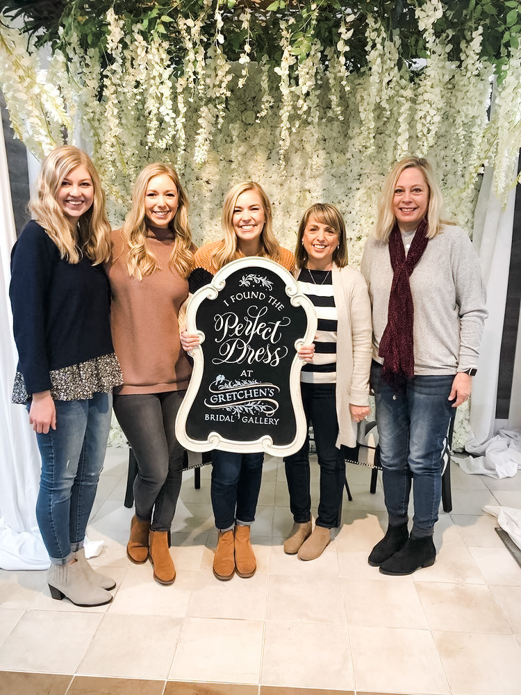 she said yes to the dress at Gretchen's bridal