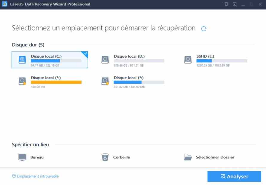 Tuto easeUs Data Recovery Wizard Professional