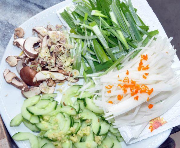 Gemüse für Sashimi