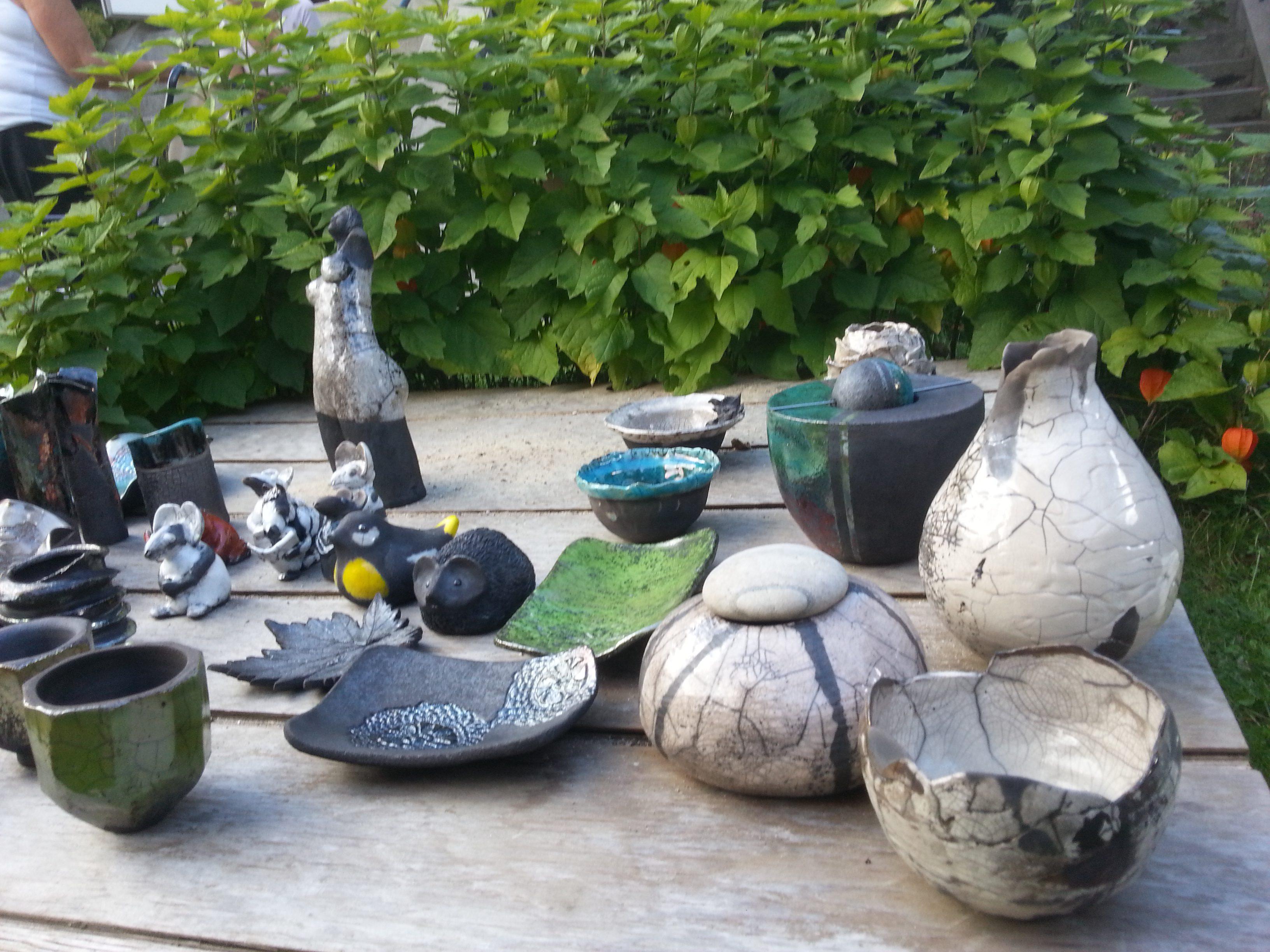 Udvalg af Grevekunst Raku Keramik 18-08-2017
