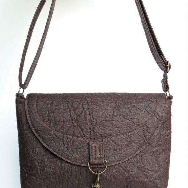 pinatex handbag grey whale vegan handbag