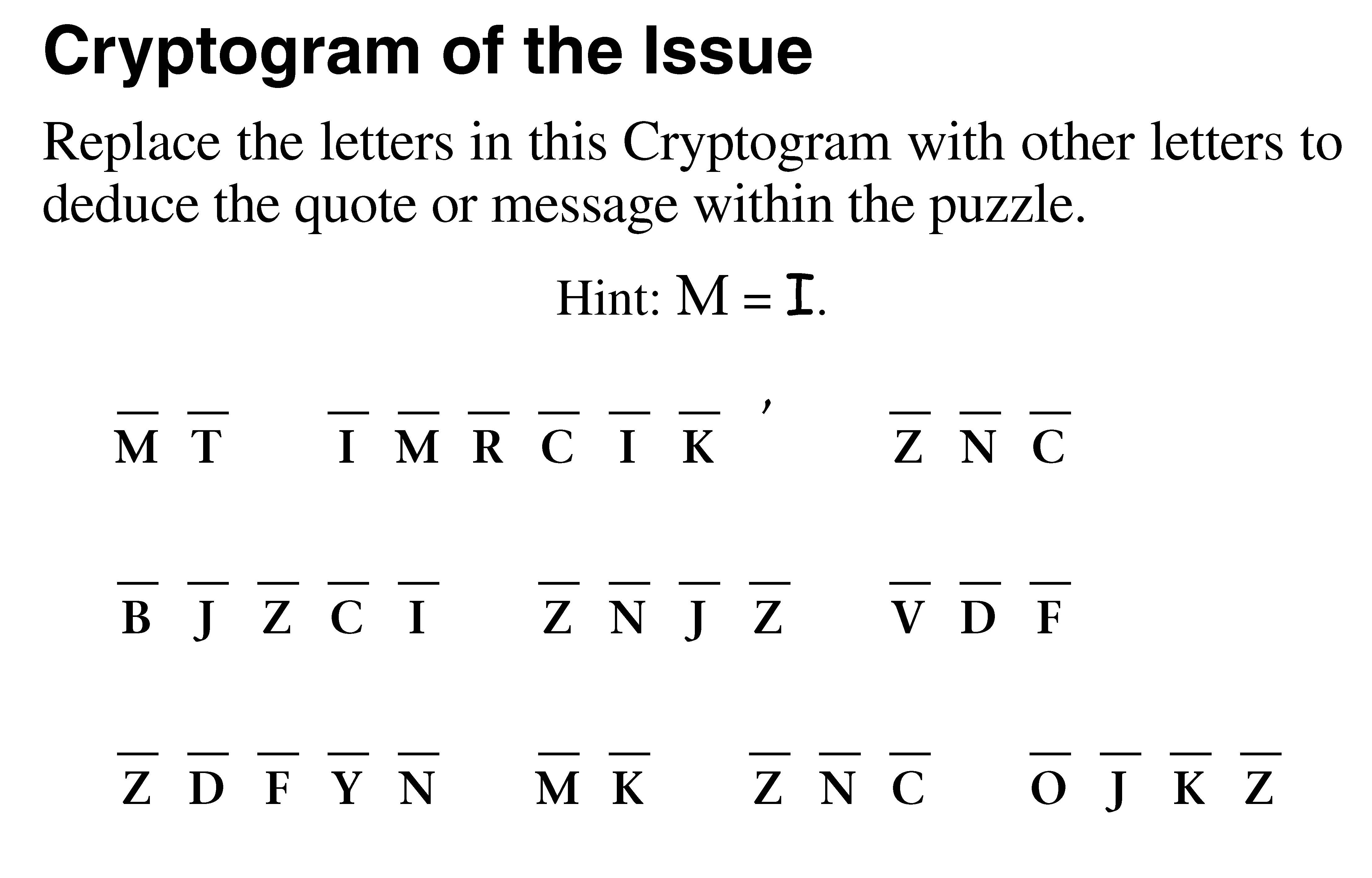 Puzzles Page November 18