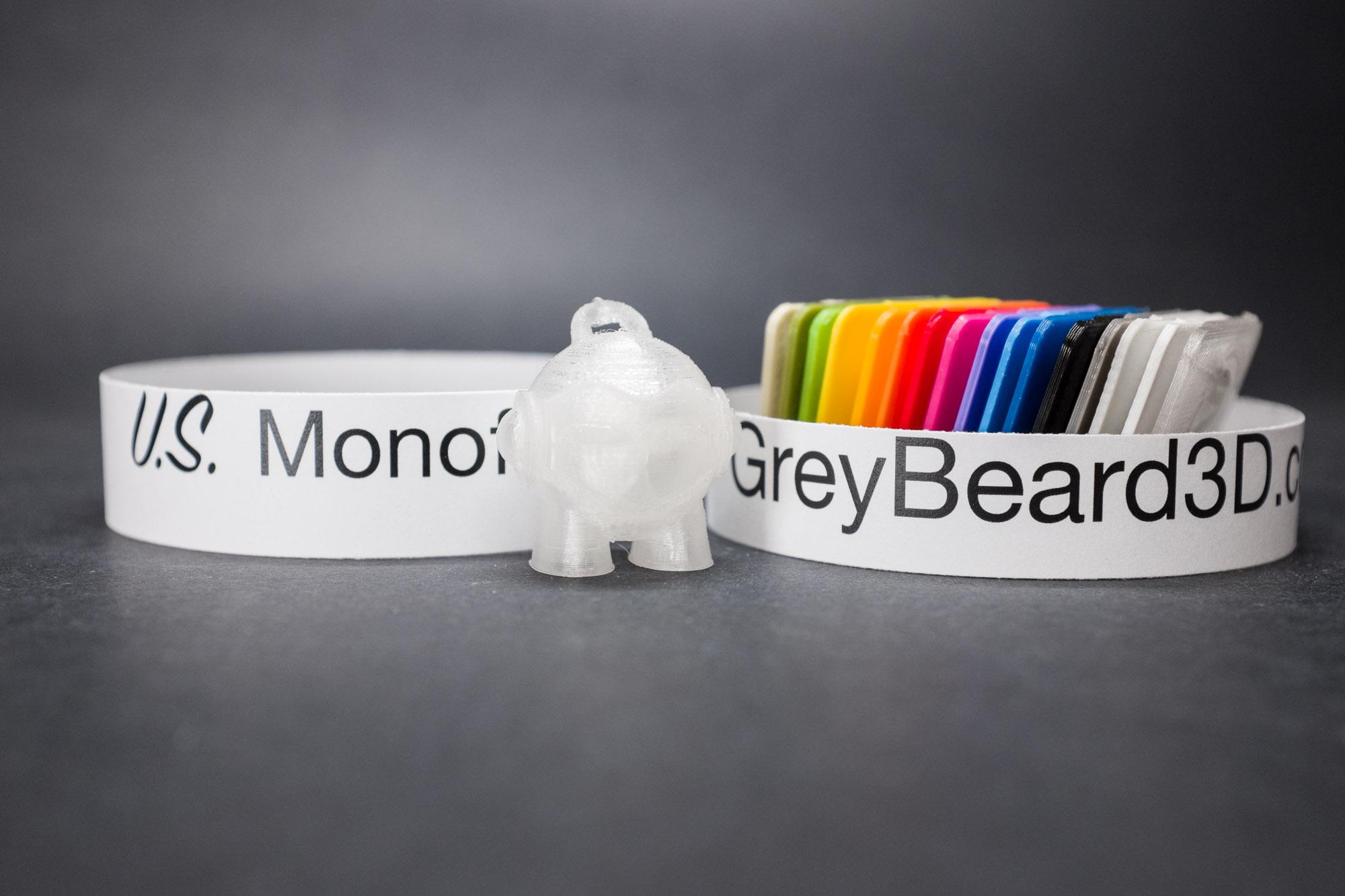 US Monofilaments Clear Hight Temp PLA – GreyBeard3D