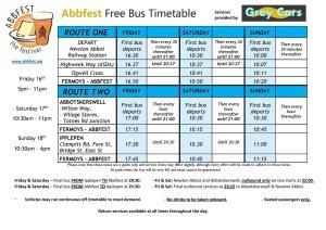 Abbfest Timetable
