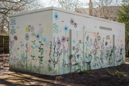 Flowery shed