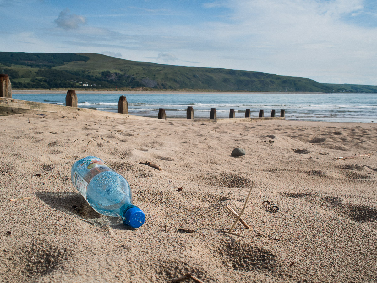 Beach and bottle