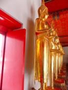 Row of standing Buddha