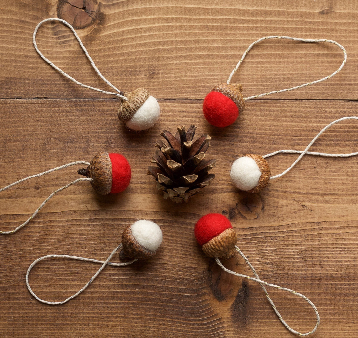 Felted Wool Ornaments For Christmas