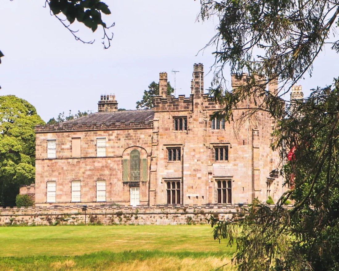 View of Ripley castle, North Yorkshire from the Deer Park