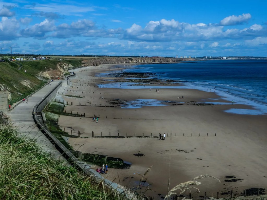 View over the magnificent Seaham sea glass beach